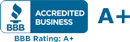 R&D Exteriors Better Business Bureau A+ Rating
