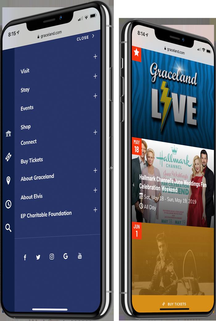 Graceland: Mobile Website M