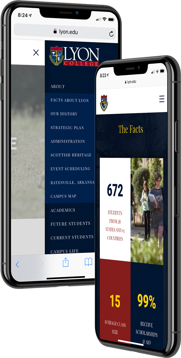 Lyon College: Mobile Website